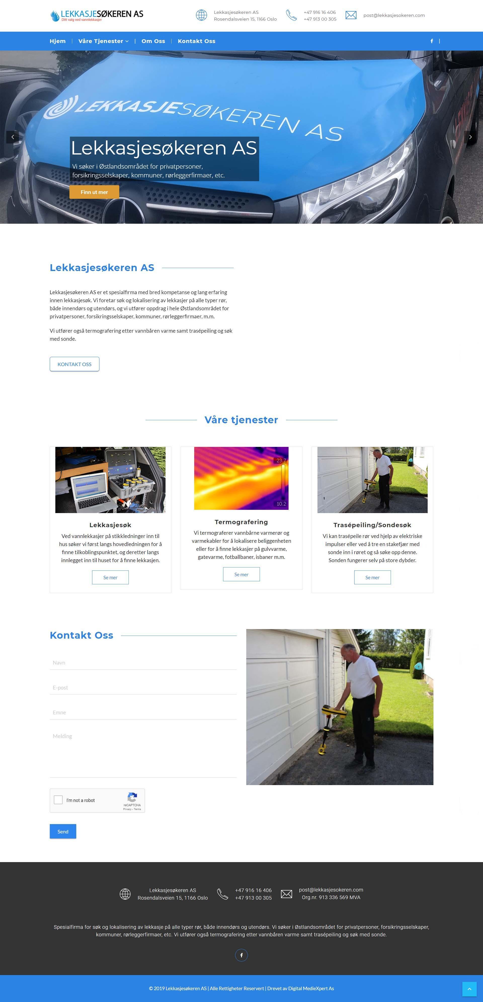 Hjemmeside Lekkasjesøkeren